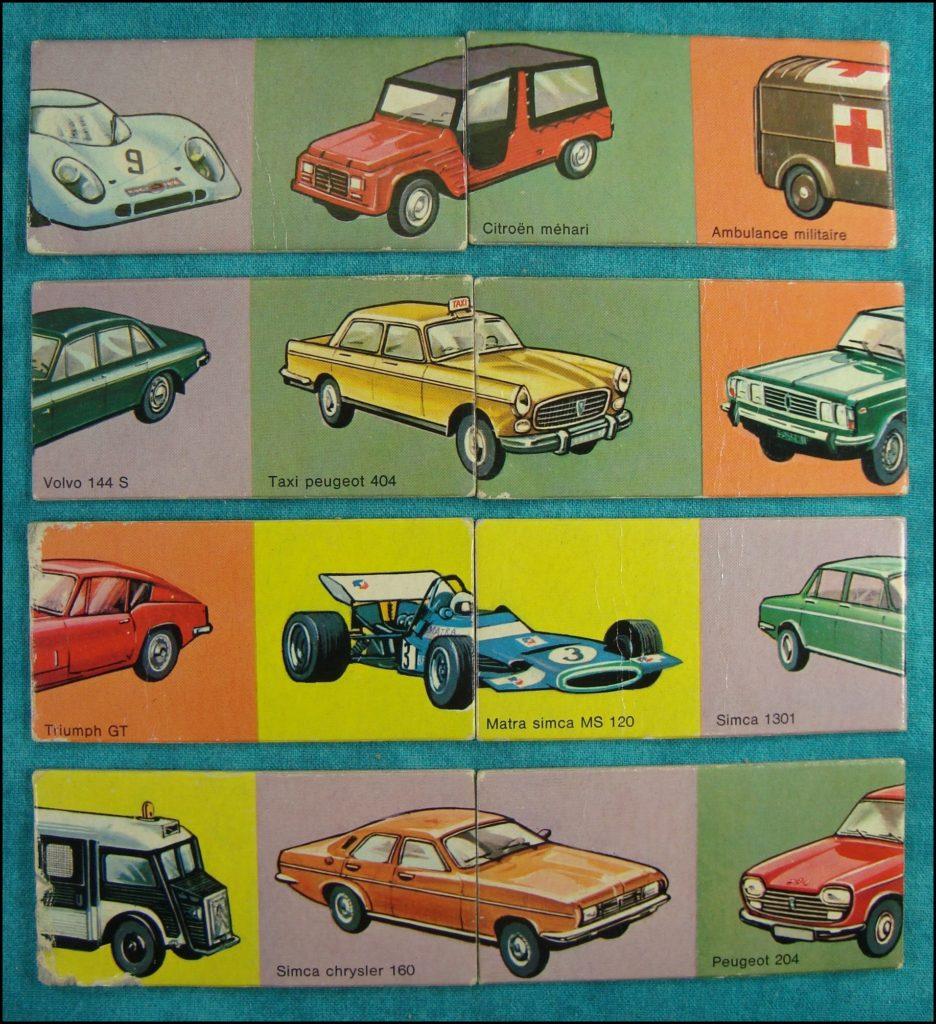 jeu vintage domino puzzle des autos