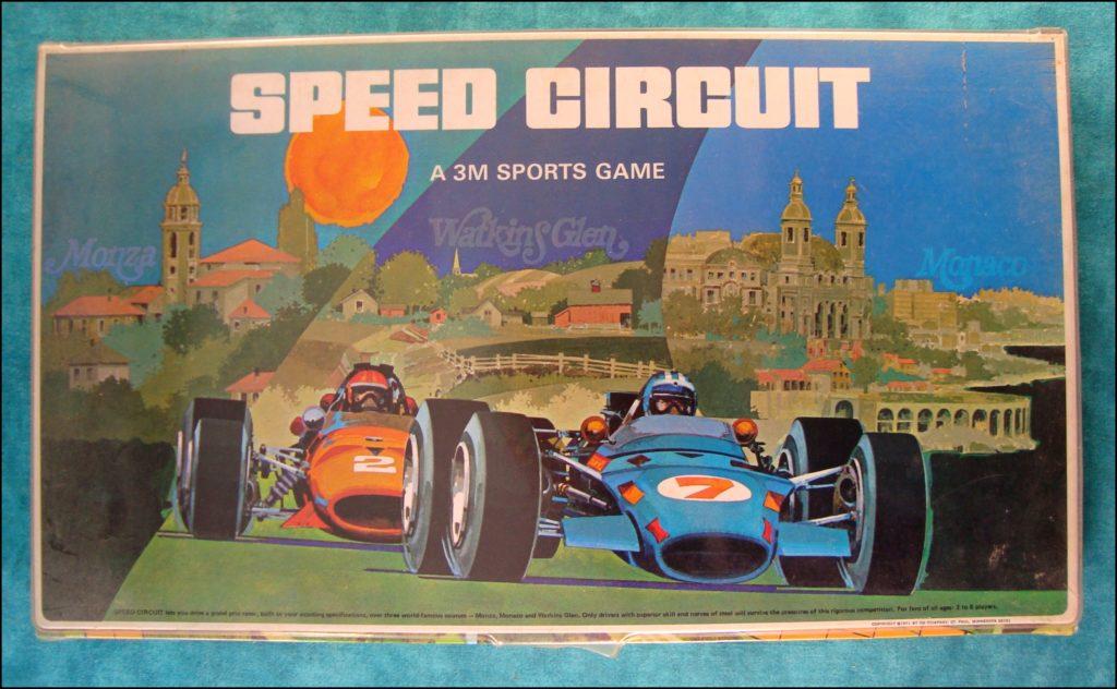Brettspiel ; Board game ; Jeu de société ; 1971 ; Speed Circuit ; 3M ; Monaco ; Monza ; Watkins Glen ;