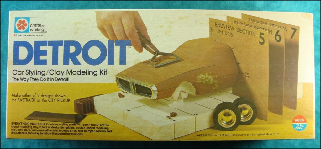 Brettspiel ; Board game ; Jeu de société ; 1973 ; Detroit Car Styling ;  Milton Bradley ; MB ; concept car ; design ;
