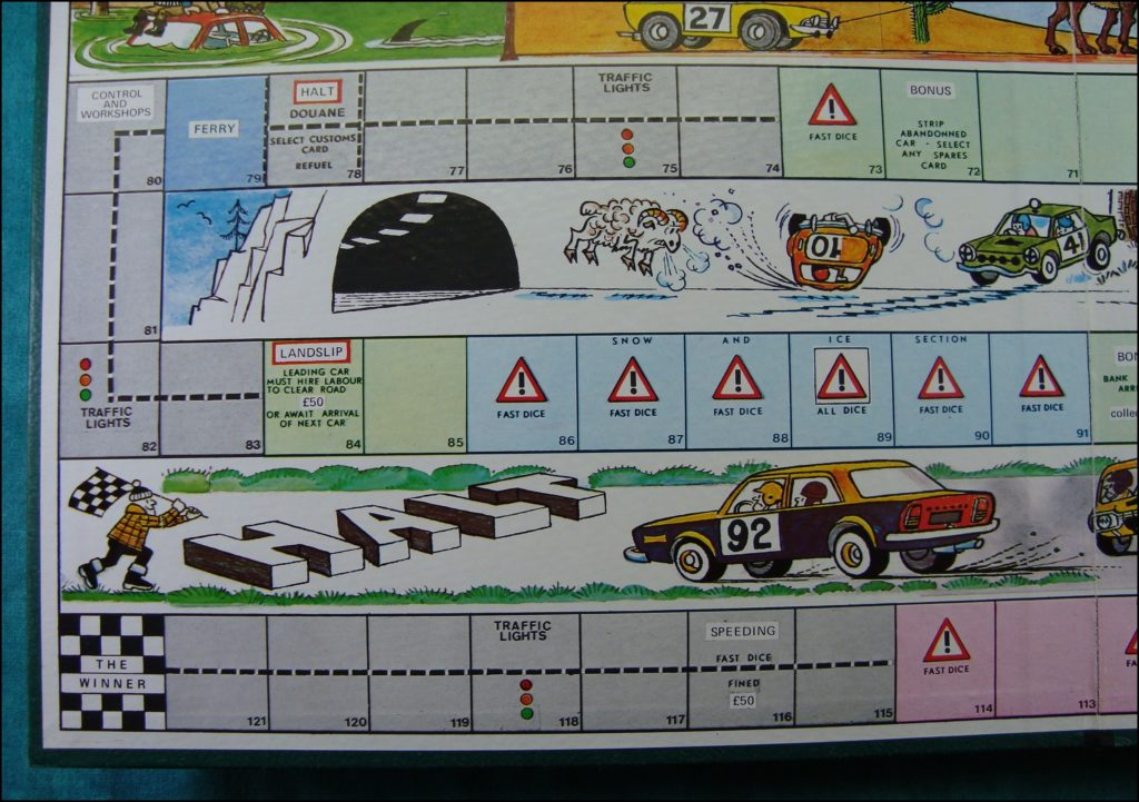 Brettspiel ; Board game ; Jeu de société ; 1975 ; Stirling Moss Rally ; Whittlecraft ;