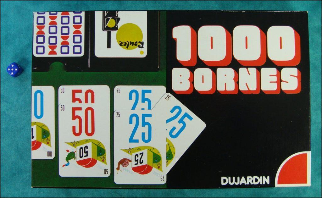 Brettspiel ; Board game ; Jeu de société ; 1975 1980 ; 1000 bornes ; Mille Bornes ; Dujardin