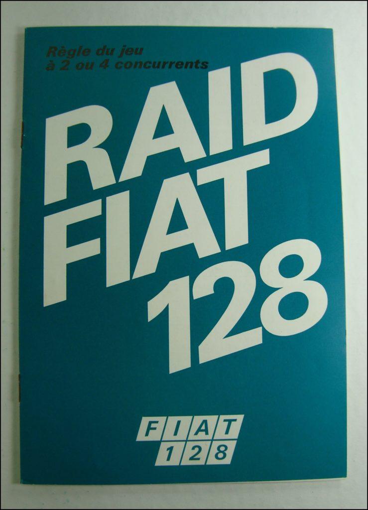 Brettspiel ; Board game ; Jeu de société ; 1975 ; Raid Fiat 128 ; Editrice Giochi ;