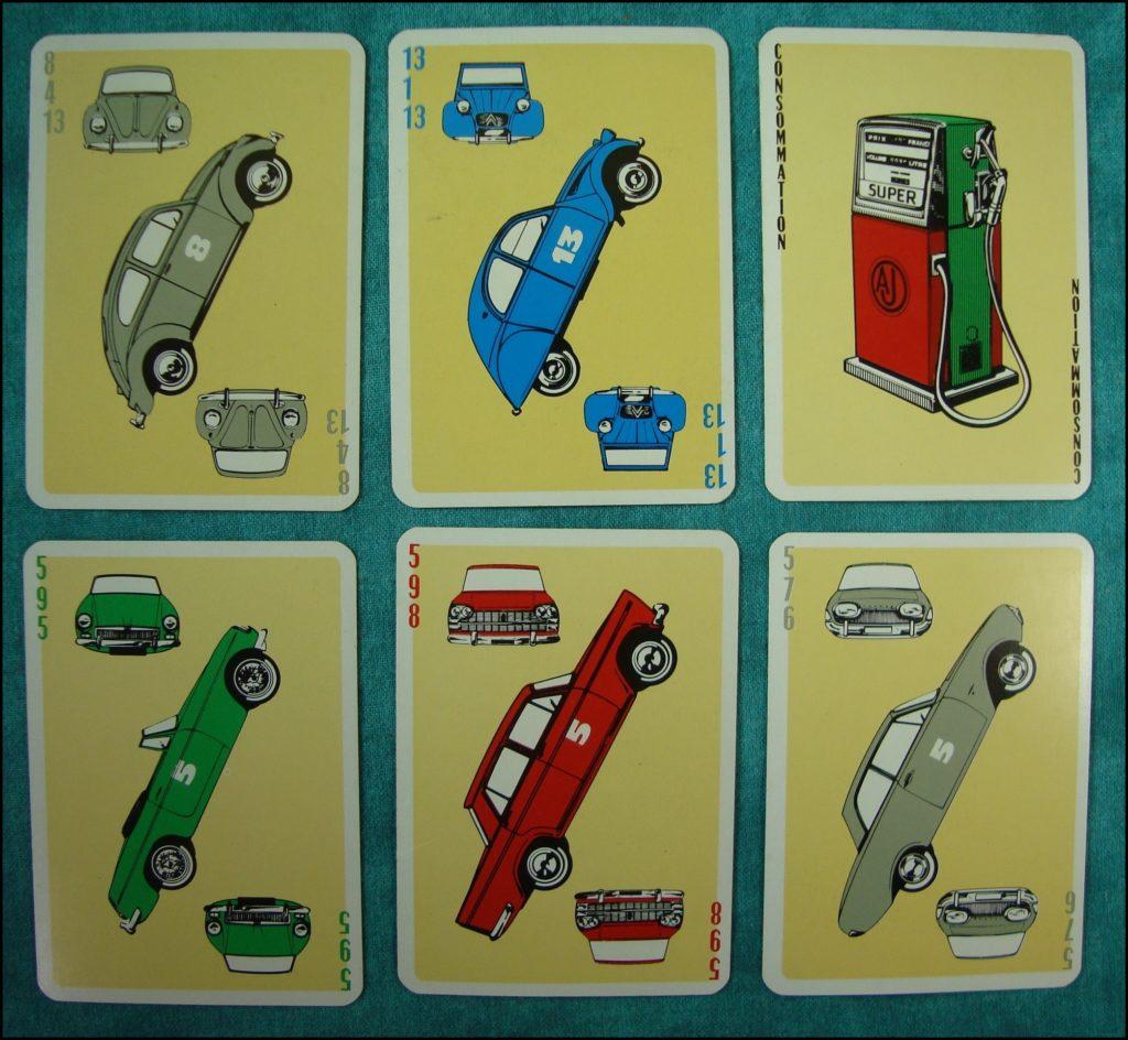 1975 - L'Auto-Match ; La Ducale ; Mercedes ; Porsche ; B.M.W. ; Ford ; DKW ; NSU ; Opel ; Rolls ; Aston Martin ; Jaguar ; Triumph ; M.G.B. ; Vauxhall ; Ford ; Hillman ; Morris ; vintage car-themed board game ; ancien jeu de société automobile ; Antikes Brettspiel Thema Automobil Autospiel ;