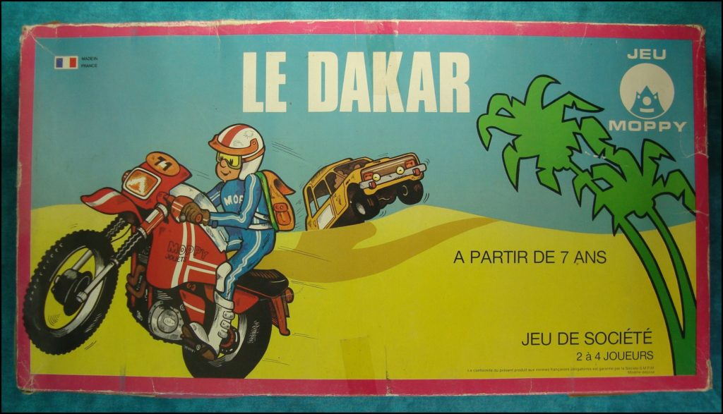 1975/80 ; Le Dakar ; éd Moppy ; Paris-Dakar ; Lada Niva ;  vintage car-themed board game ; ancien jeu de société automobile ; Antikes Brettspiel Thema Automobil Autospiel ;