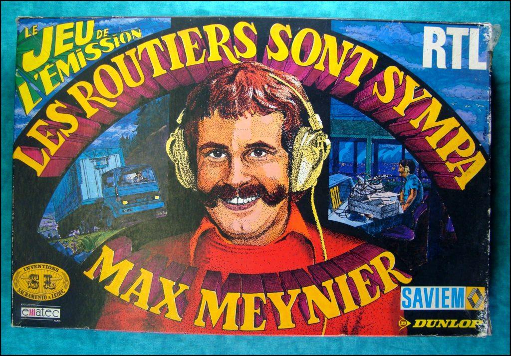 1976 ; Les routiers sont sympa ; éd. S.L. Ematec ; Majorette ; RTL ; Max Meynier ; Saviem ; Dunlop ; vintage car-themed board game ; ancien jeu de société automobile ; Antikes Brettspiel Thema Automobil Autospiel ;