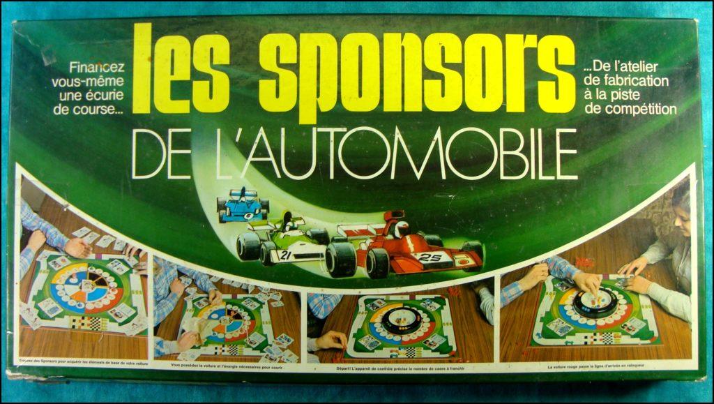 1980/90 ; Les sponsors de l'Automobile ; Miro ;  vintage car-themed board game ; ancien jeu de société automobile ; Antikes Brettspiel Thema Automobil Autospiel ;