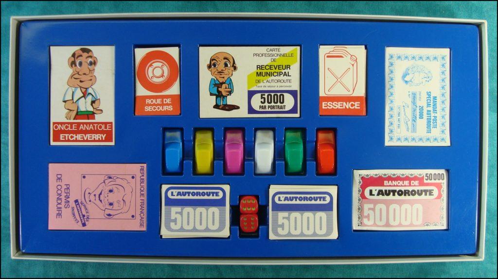 1980/90 - L'autoroute ; Dujardin ; vintage car-themed board game ; ancien jeu de société automobile ; Antikes Brettspiel Thema Automobil Autospiel ;