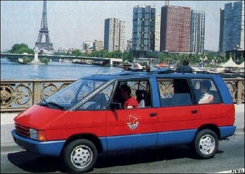 1985/90 - Vite, taxi ! ; La Ducale ; Renault Espace monospace ; vintage car-themed board game ; ancien jeu de société automobile ; Antikes Brettspiel Thema Automobil Autospiel ;