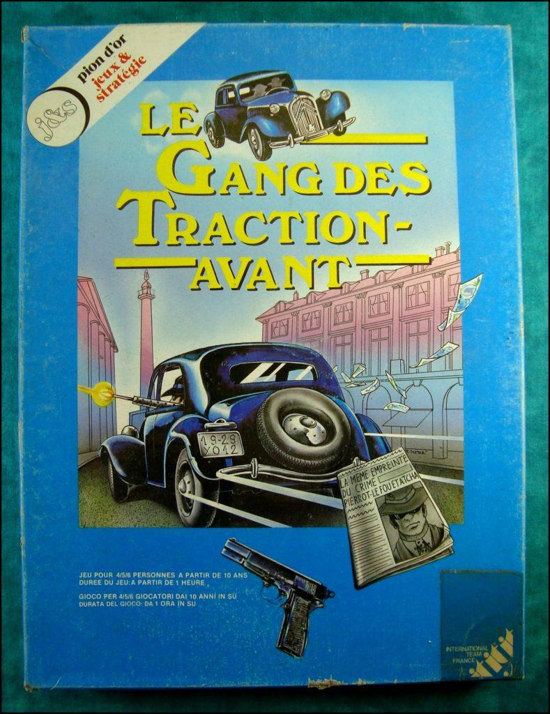 1988 ; Le gang des Tractions Avant ; éd. International Team ; vintage car-themed board game ; ancien jeu de société automobile ; Antikes Brettspiel Thema Automobil Autospiel ;