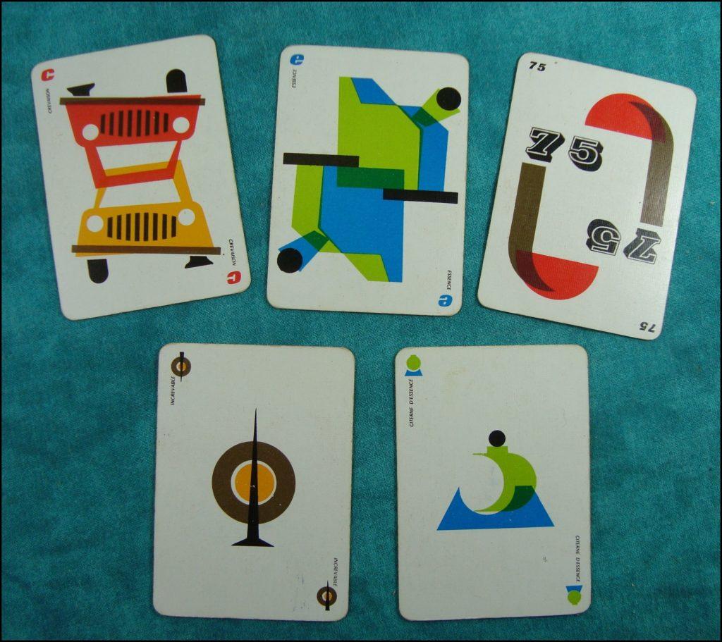 1960 - 1000 bornes ; Dujardin ; Pierre Praquin ; spécial ;  vintage car-themed board game ; ancien jeu de société automobile ; Antikes Brettspiel Thema Automobil Autospiel ;