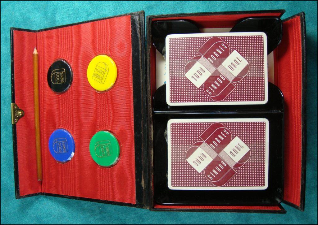 1960 - 1000 bornes ; Dujardin ;  vintage car-themed board game ; ancien jeu de société automobile ; Antikes Brettspiel Thema Automobil Autospiel ;