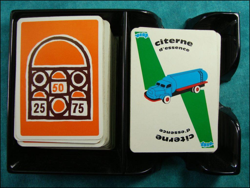 1960/65 - 1000 bornes ; Dujardin ; vintage car-themed board game ; ancien jeu de société automobile ; Antikes Brettspiel Thema Automobil Autospiel ;