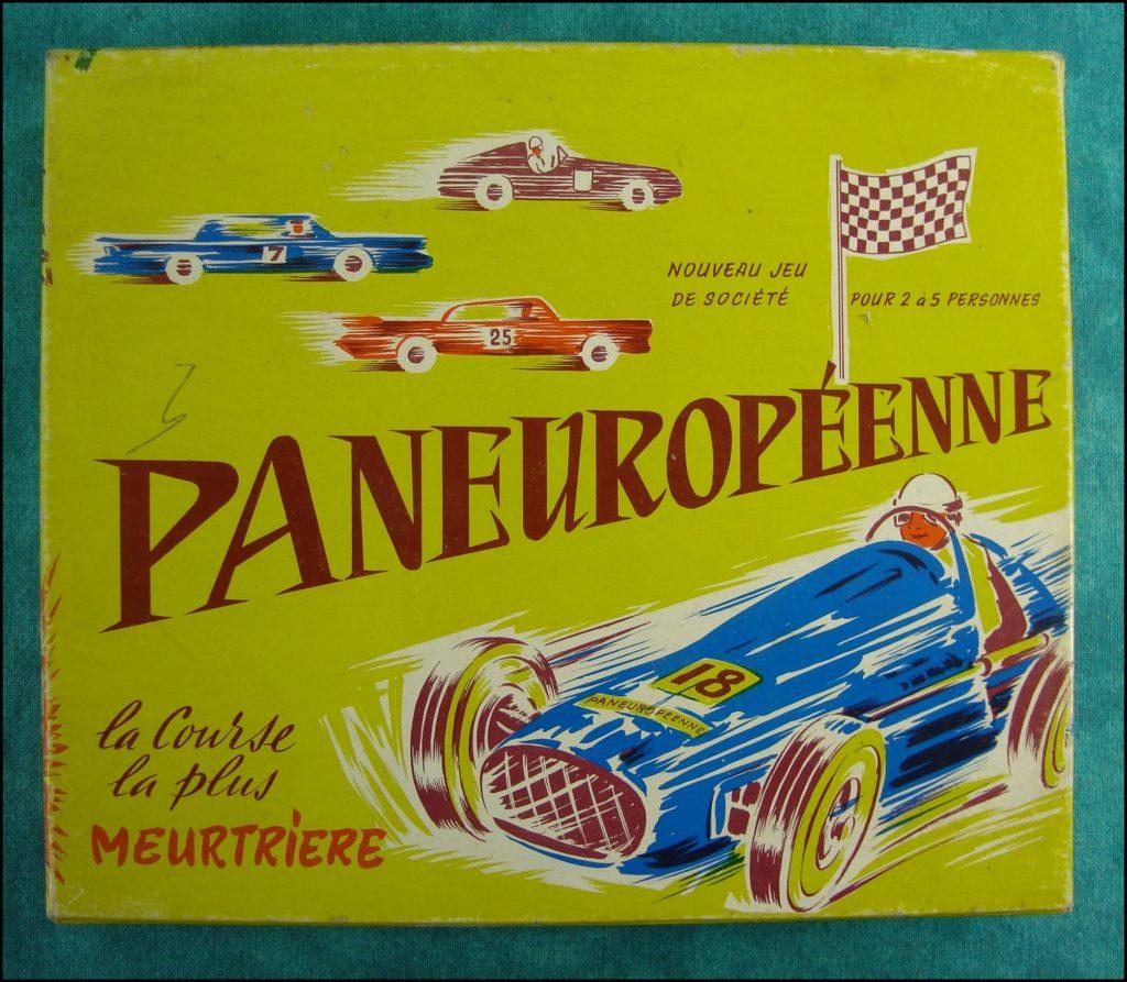 1955/60 - Paneuropéenne ; Dujardin ; la course la plus meurtrière ; vintage car-themed board game ; ancien jeu de société automobile ; Antikes Brettspiel Thema Automobil Autospiel ;
