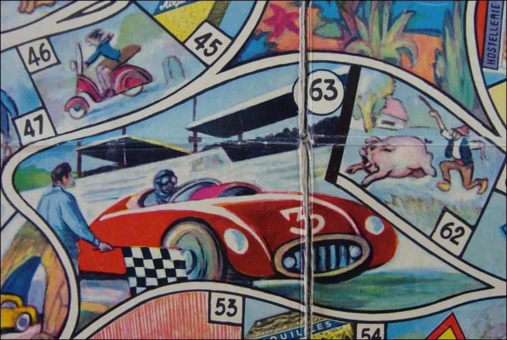 Brettspiel ; Board game ; Jeu de société ; 1950/55 ; Jeu de Biscott'autos ; promo ; Joseph Milliat ; Milliat Frères ;