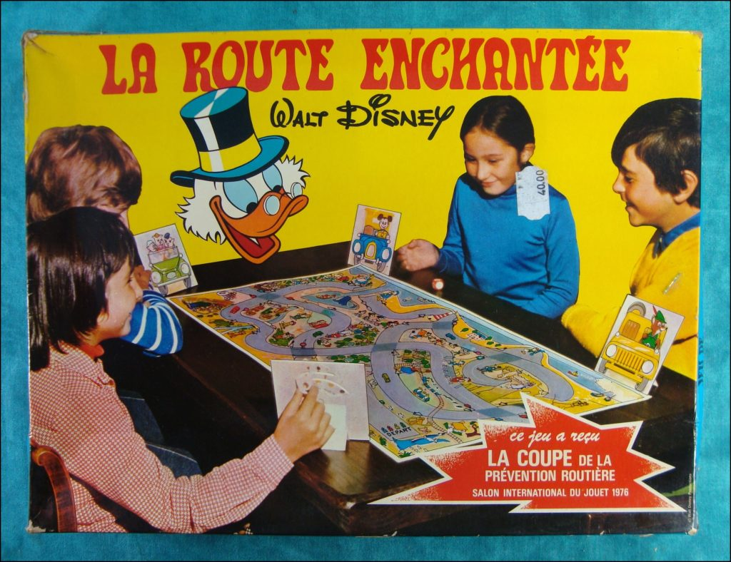 Brettspiel ; Board game ; Jeu de société ; 1976 ; La Route Enchantée ; Walt Disney ; Picsou ; Mickey ; Donald ; Naf Naf