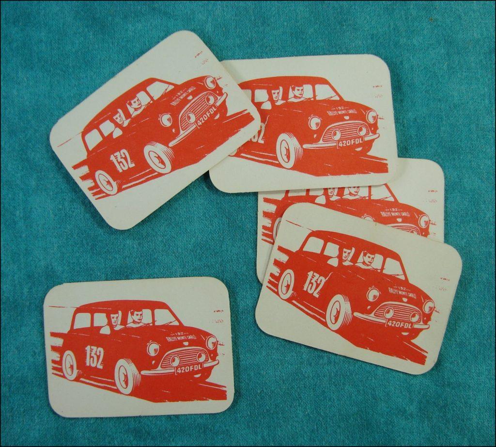 Brettspiel ; Board game ; Jeu de société ; 1965-1970 ; Rallye Monte Carlo ; Fernel ; Corgi Toys ; Morris Minor ; Mini Cooper