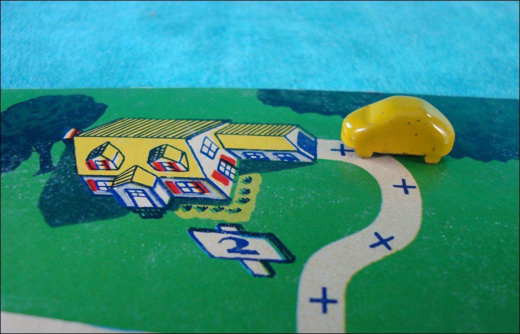 1945 1950 ; Town and Country Traffic ; Ranger Steel Product ; vintage car-themed board game ; ancien jeu de société automobile ; Antikes Brettspiel Thema Automobil Autospiel ;