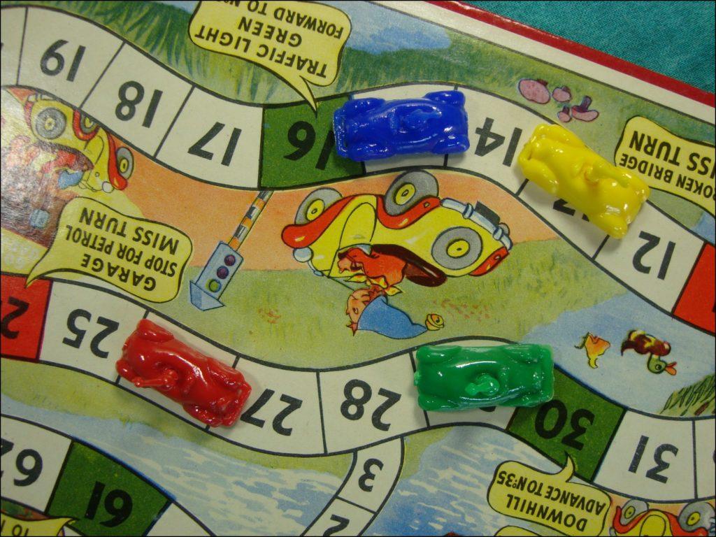 Brettspiel ; Board game ; Jeu de société ;  1953 ; Little Noddy Car Game ; Enid Blyton ; BeStime ;