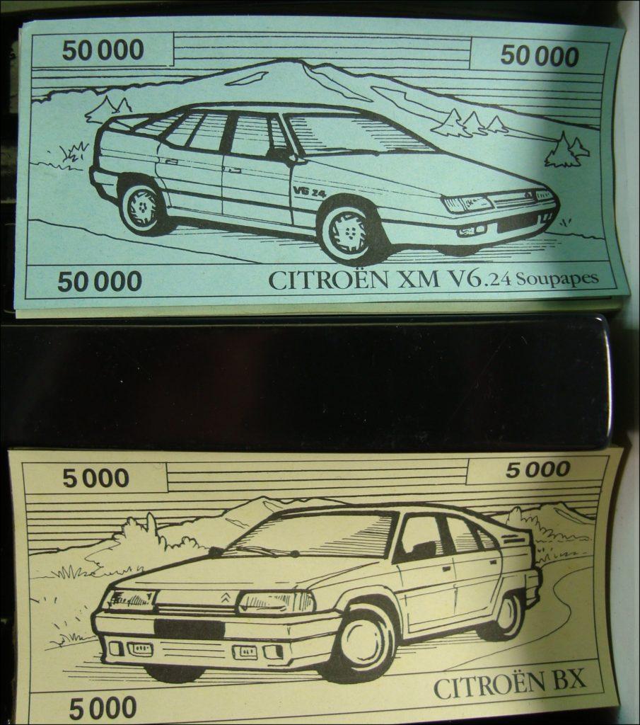 Brettspiel ; Board game ; Jeu de société ; 1991 ; Parcours Citroën ; IFPS ; Citroën AX ; Citroën BX ; Citroën ZX ; Citroën XM V6.