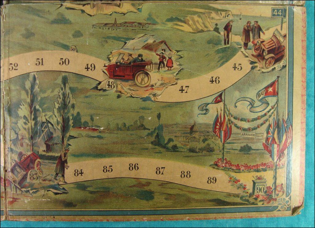 Brettspiel ; Board game ; Jeu de société ; 1905 1910 ; Jeu de l'Oie Automobile ;