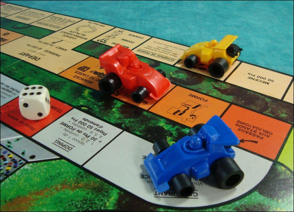 Brettspiel ; Board game ; Jeu de société ; 1989 ; M6 Turbo Cup ; éd. Schmidt ; Dominique Chapatte ; Formule 1 ;