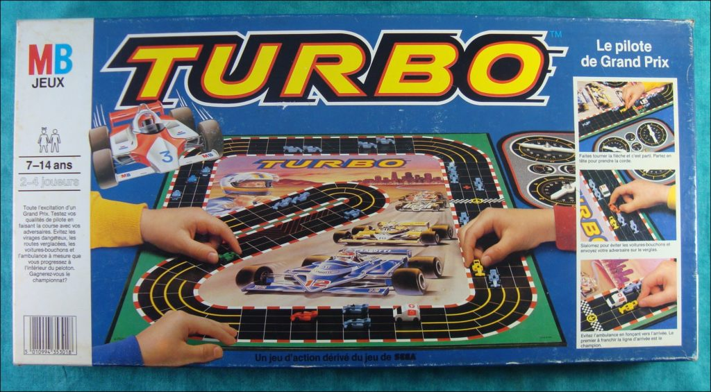 Brettspiel ; Board game ; Jeu de société ; 1983 ; Turbo ; Sega ; Milton Bradley ; MB ;