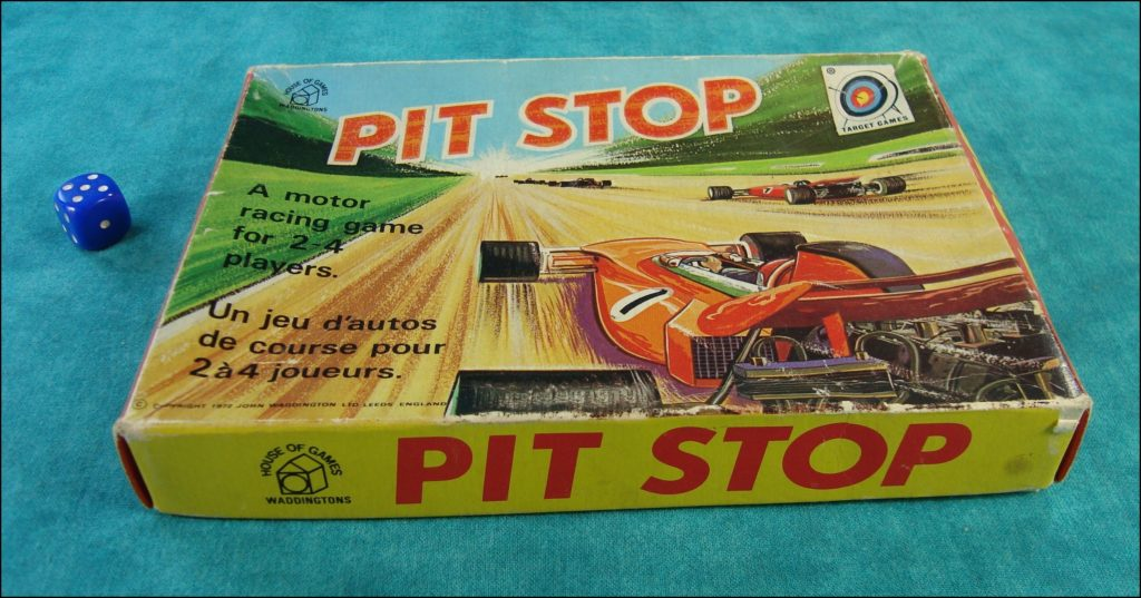 Brettspiel ; Board game ; Jeu de société ; 1972 ; Pit Stop ; Waddingtons ;