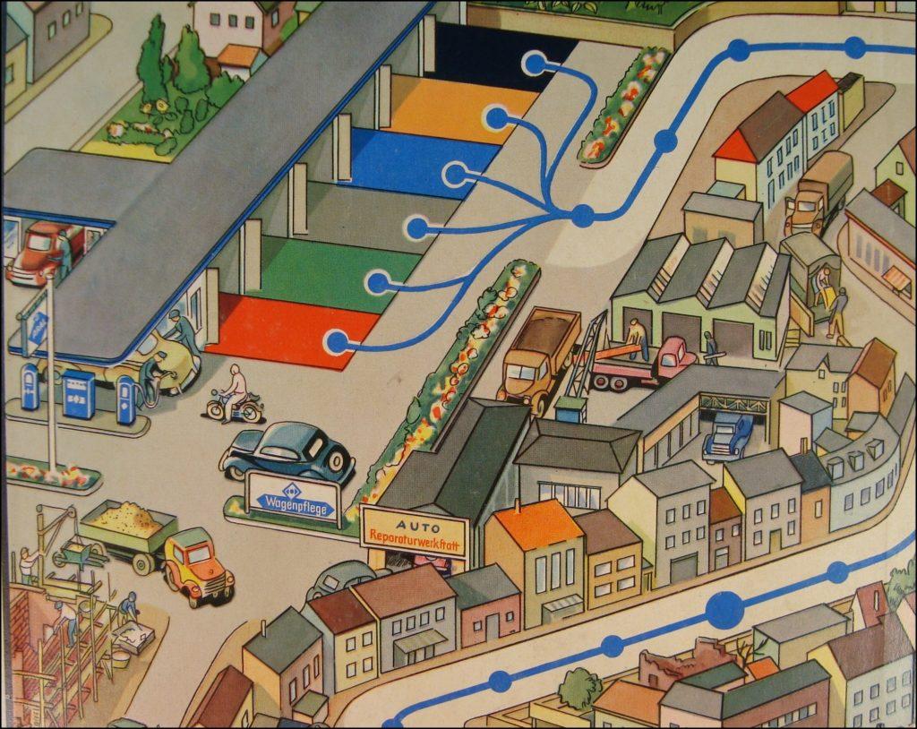 Kreuz und quer durch den Verkehr ; Aral ; Bernt Rösel ; Wagen Brettspiel ; vintage cars Board game ; Jeu de société automobile ;