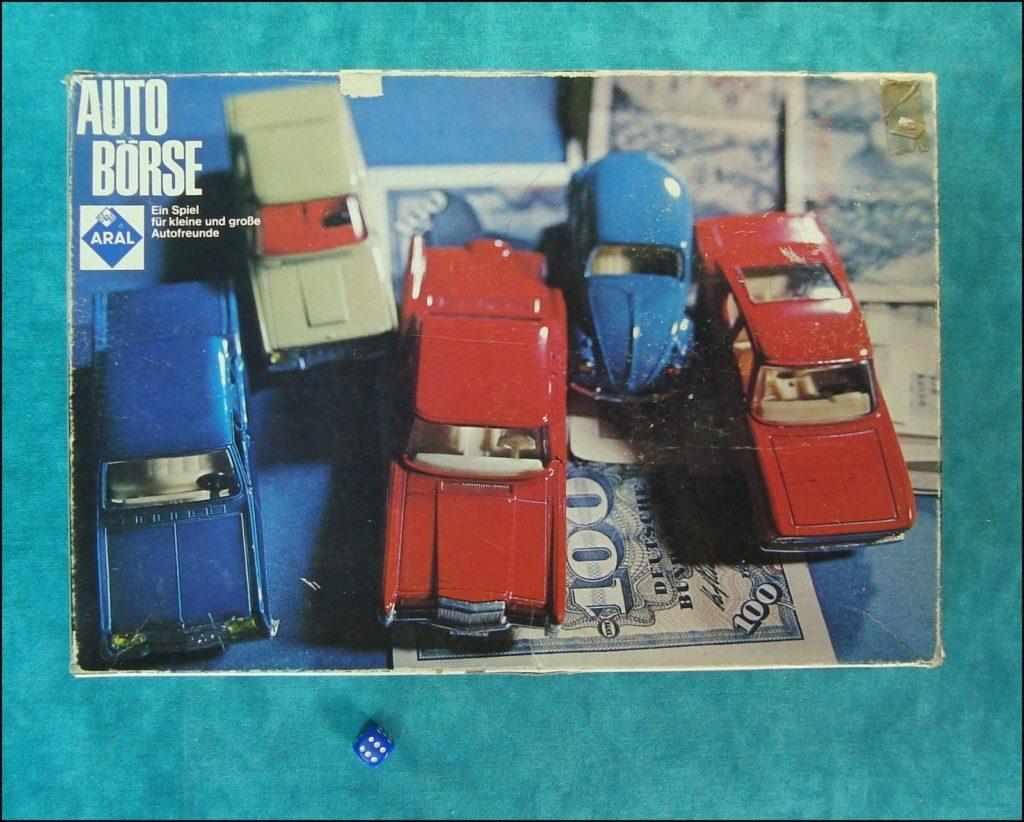 Auto Börse ; KLEE Spiele 1656 ; 1963 ; Mercedes-Benz 230 SL ; 250 SL ; 280 SL ; Opel Kadett Kapitan Olympia ; Lincoln Continental ;Citroen DS ; Simca 8 1200 ; Combi VW Coccinelle Käfer Ladybug ; Aral ;