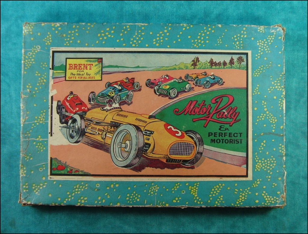 1945 1950 ; Motor Rally & Perfect Motorist ;   Playcraft Traders ;  Brettspiel ;  vintage cars Board game ; Jeu de société automobile ;