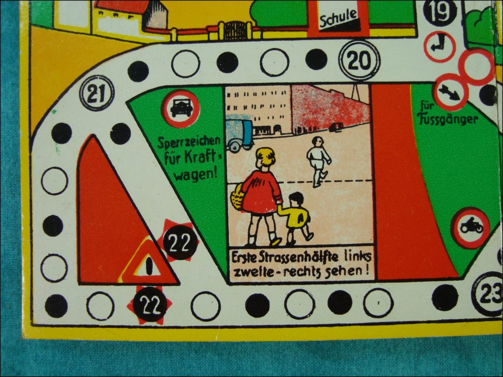 1940/50 ; Vorsicht ! ; Klee Spiel ; vintage car-themed board game ; ancien jeu de société automobile ; Antikes Brettspiel Thema Automobil ;