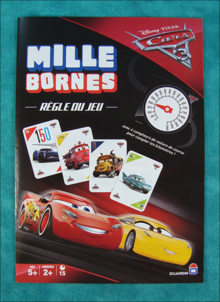 2017 ; Mille Bornes Cars 3 ; Dujardin ; vintage car-themed board game ; ancien jeu de société automobile ; Antikes Brettspiel Thema Automobil ;