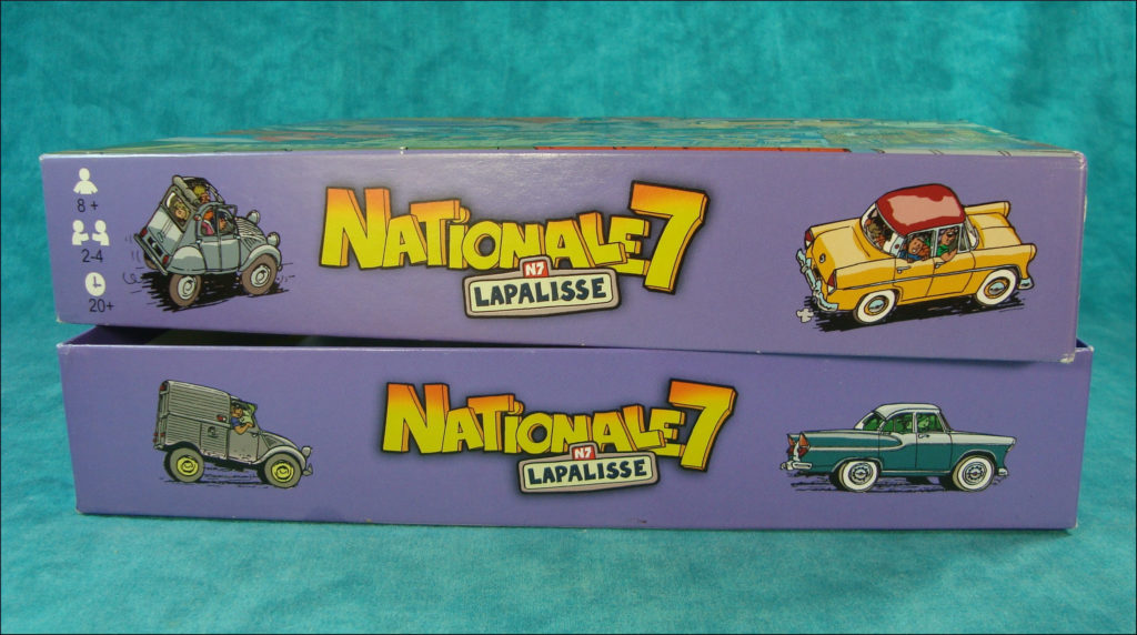 2010 ; Nationale 7 ; Lapalisse ; Thierry Dubois ; Blackrock ; Citroën DS ; Renault 4 ch ; Unic ; Simca Ariane ; caravane Nottin ; Citroën 2 ch ; Austin Healey Sprite MK1 ; Peugeot 403 ; Renault Dauphine ; Renault Frégate ; Simca Vedette Beaulieu Chambord ; vintage car-themed board game ; ancien jeu de société automobile ; Antikes Brettspiel Thema Automobil ;
