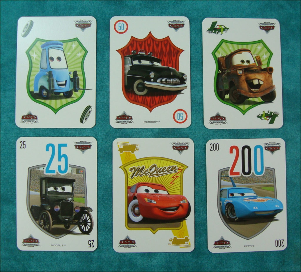 Mille  Bornes Cars 1 ; Le jeu du coup-fourré ; vintage car-themed board game ; ancien jeu de société automobile ; Antikes Brettspiel Thema Automobil ;