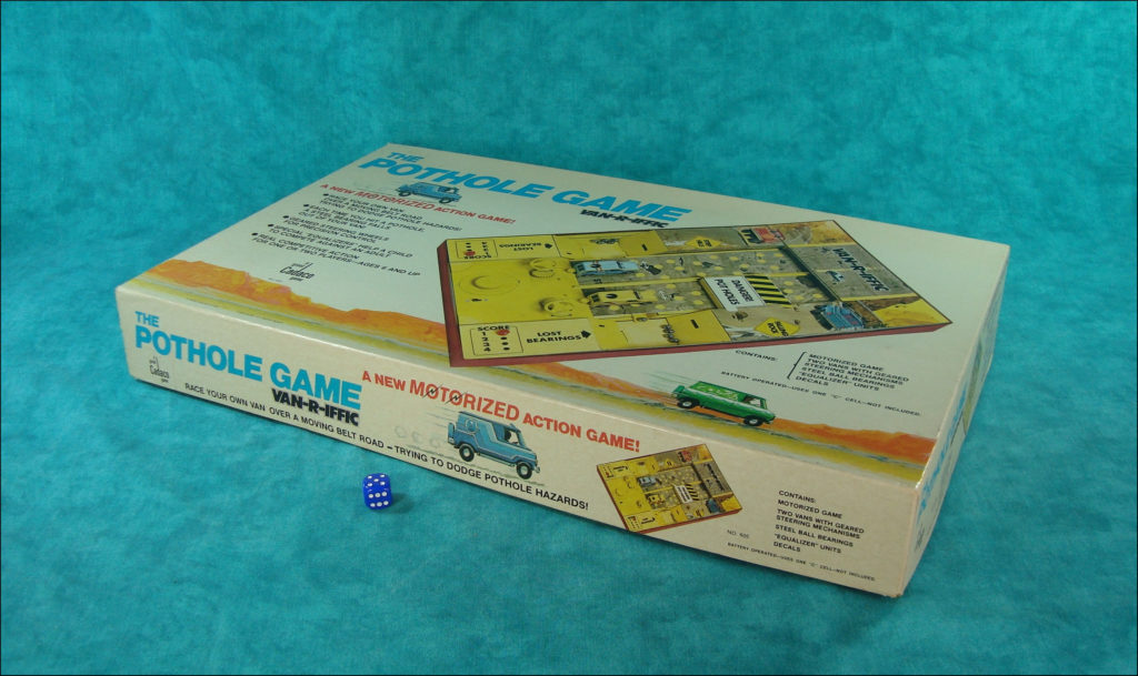 1978 ; The Pothole game ; Cadaco ; vintage car-themed board game ; ancien jeu de société automobile ; Antikes Brettspiel Thema Automobil ;