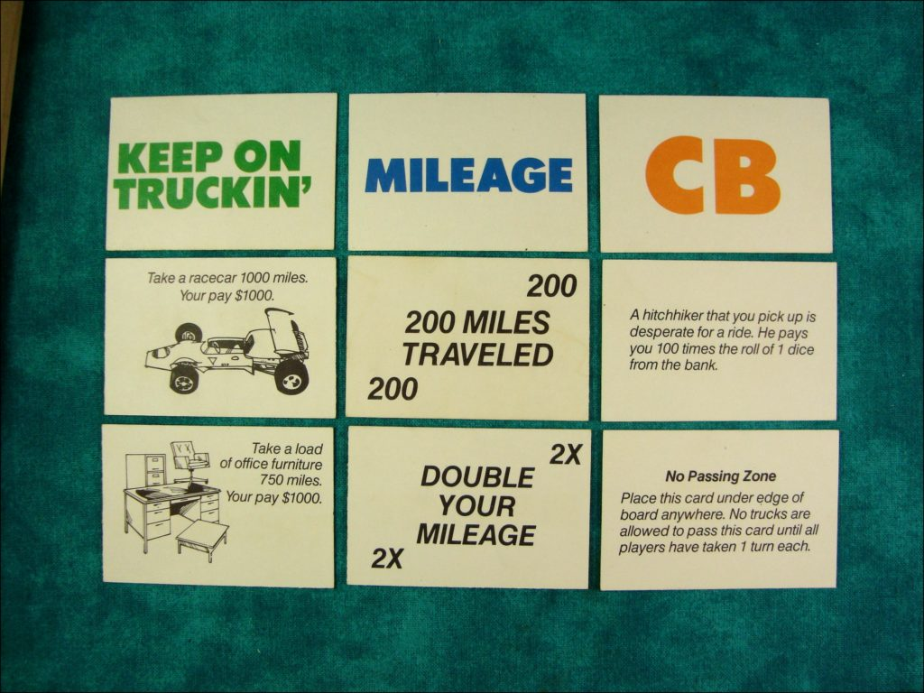 1976 ; Breaker 19 ; MB ; Milton Bradley ; CB ; Kenworth W900 W-900 ; vintage car-themed board game ; ancien jeu de société automobile ; Antikes Brettspiel Thema Automobil ;